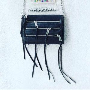 Rebecca Minkoff Black Zipper Crossbody